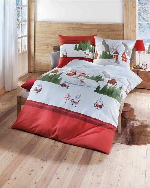 Biber Bettwäsche Für Weihnachten 135x200 155x220 In Rot
