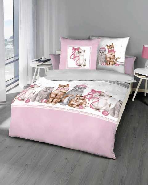 Biber Bettwäsche Katzen Rosé Marken Qualität Günstig