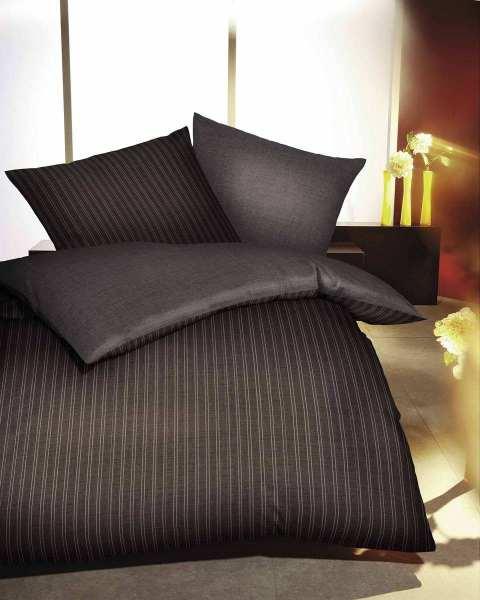 Biber Bettwäsche braun Streifen Design