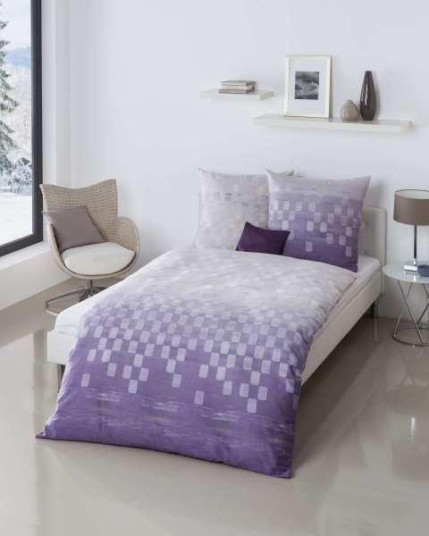 Mako Satin Bettwäsche Garnitur 811 Violett Günstig Bestellen