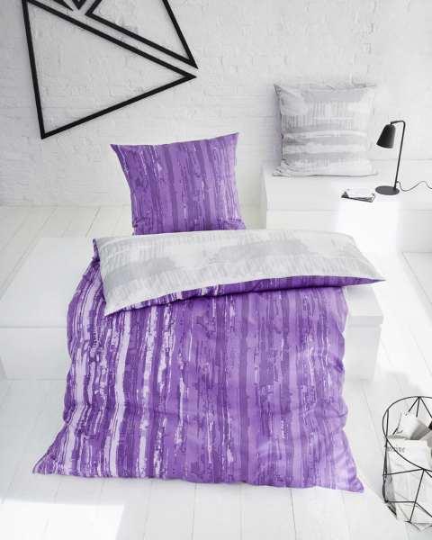 mako satin bettwäsche violett lila