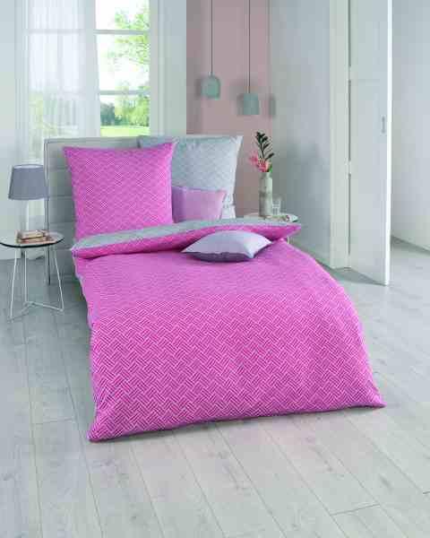 Seersucker Bettwäsche pink