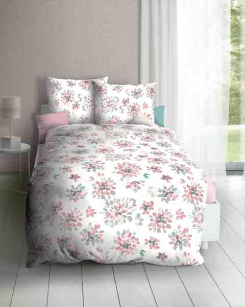 Poly-Cotton Perkal Bettwäsche rosa