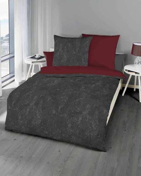biber bettw sche rubin rot modern design g nstig kaufen. Black Bedroom Furniture Sets. Home Design Ideas