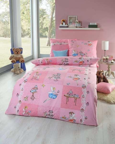 Kinderbettwäsche RENFORCÈ Qualität rosa