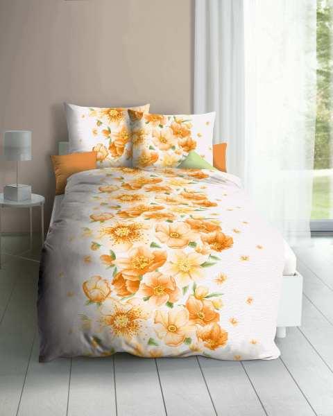 Seersucker Bettwäsche mandarine