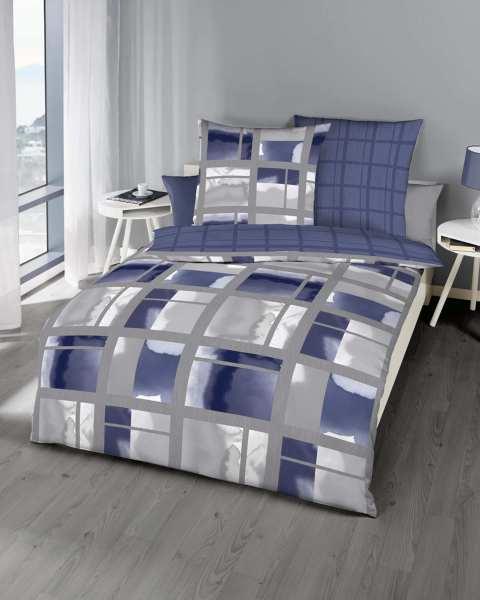 Mako Satin Bettwäsche In Marine Blau Design Günstig Kaufen