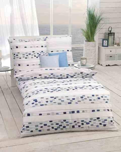 Seersucker Bettwäsche Mit Graphischem Muster 976 Blau Günstig Kaufen