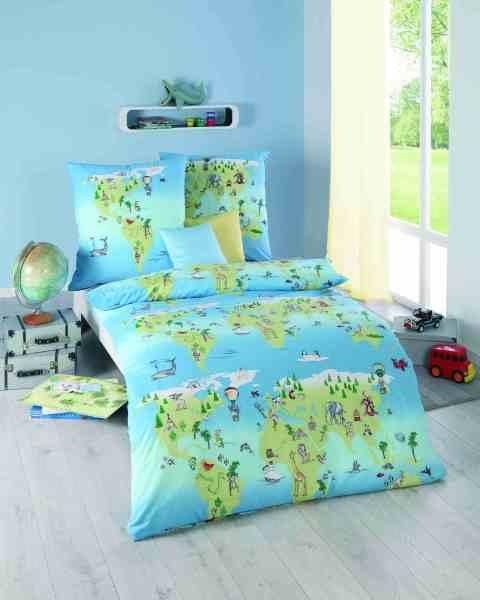 Kinder Bettwäsche hellblau