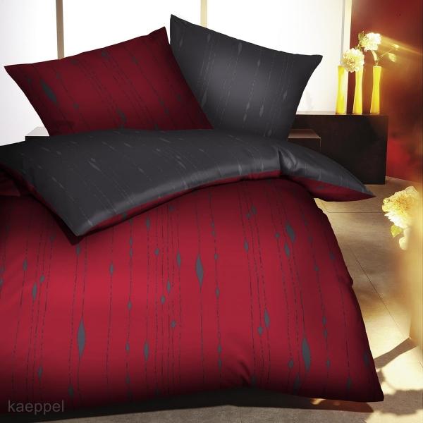 Mako Satin Bettwäsche Nr 684 Rubin Rot Günstig Kaufen