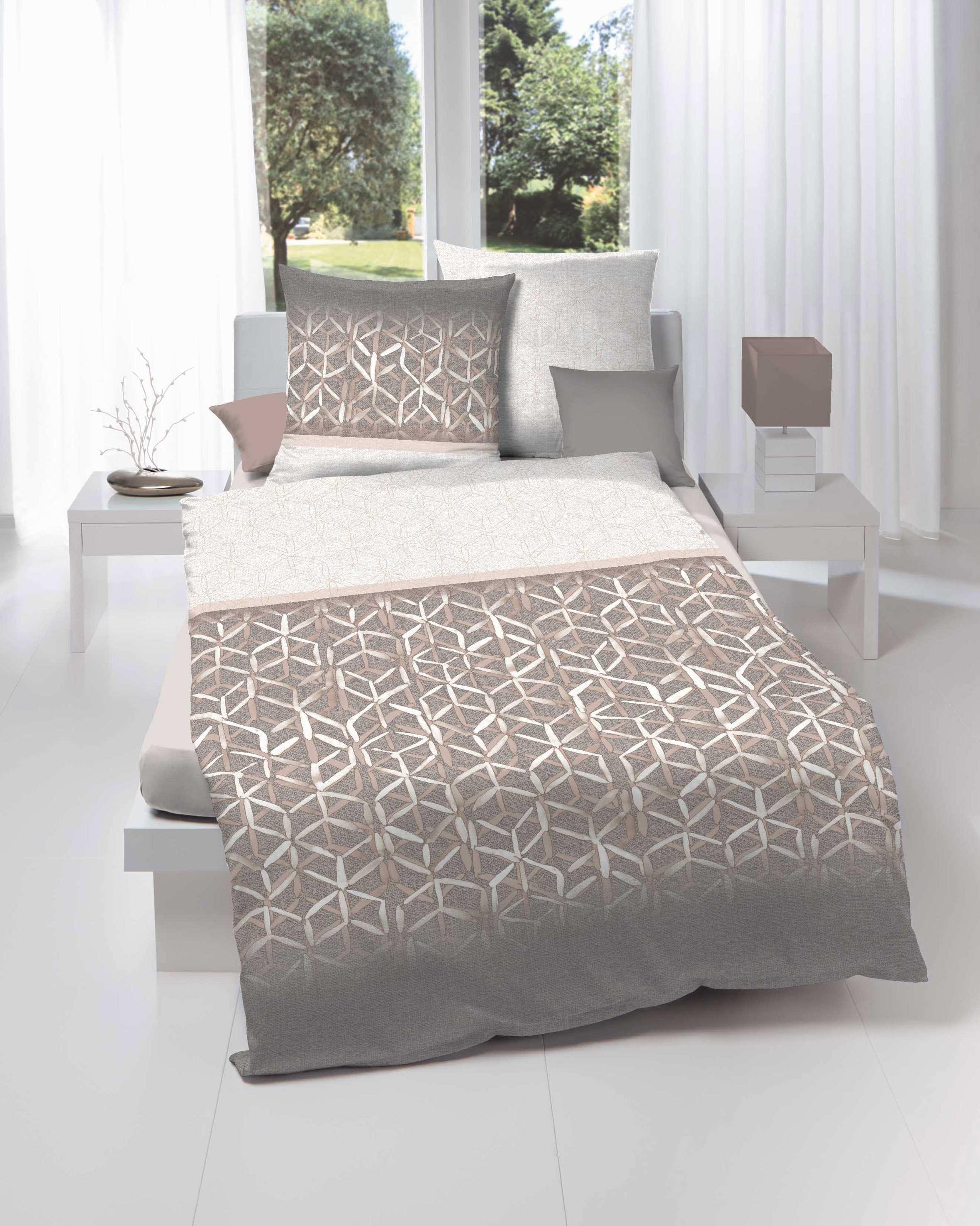 mako satin bettw sche kaeppel 833 farbton mandel braun g nstig. Black Bedroom Furniture Sets. Home Design Ideas