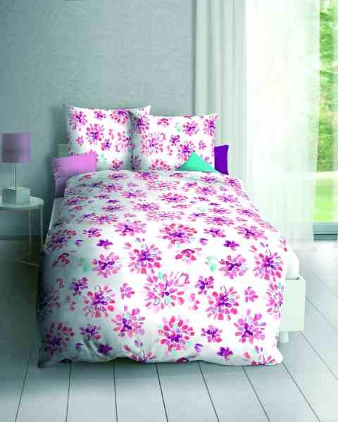 Poly-Cotton Perkal Bettwäsche pink