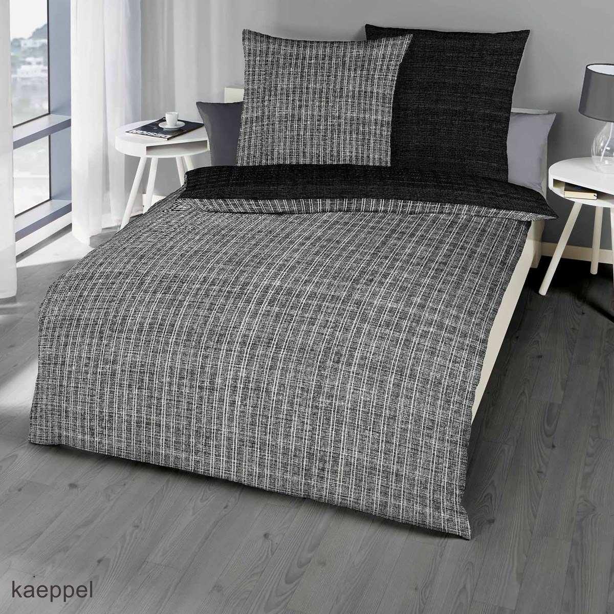 mako satin bettw sche essential schwarz g nstig kaufen. Black Bedroom Furniture Sets. Home Design Ideas