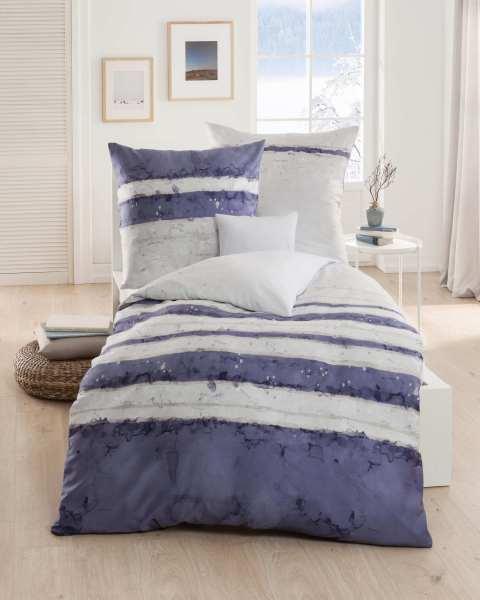 mako satin bettw sche garnitur 806 in marine blau g nstig kaufen. Black Bedroom Furniture Sets. Home Design Ideas