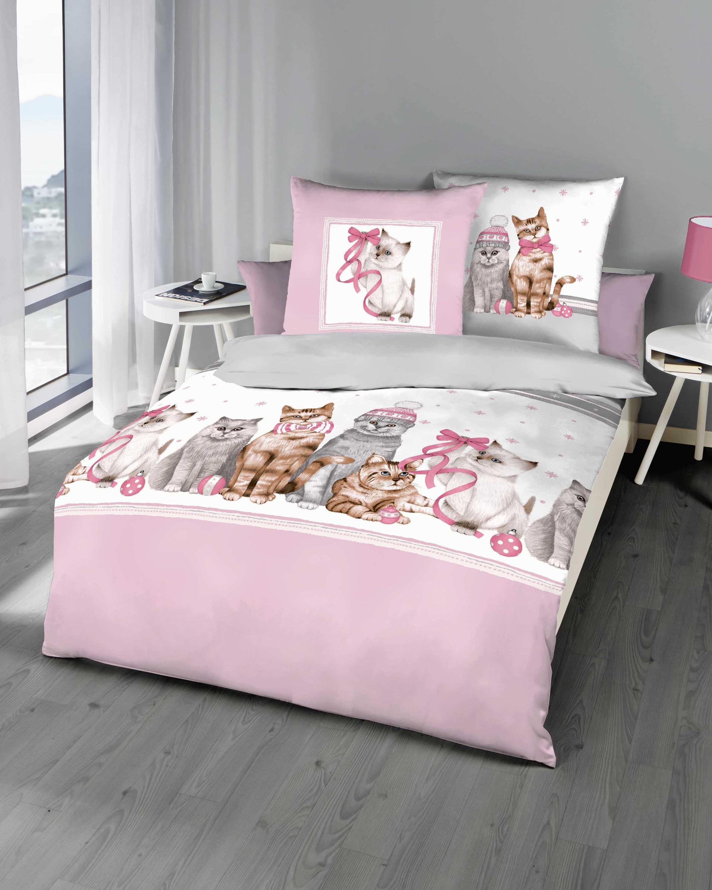 biber bettw sche katzen ros marken qualit t g nstig. Black Bedroom Furniture Sets. Home Design Ideas