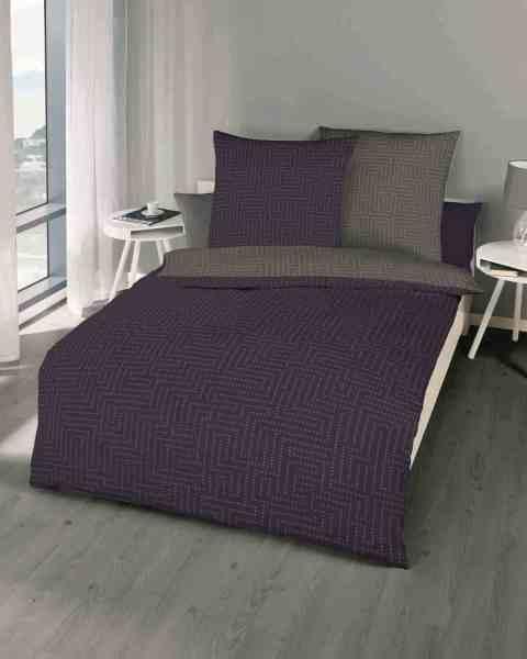 Mako-Satin Bettwäsche violett