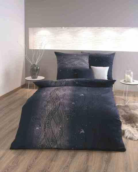 Biber Bettwäsche blau